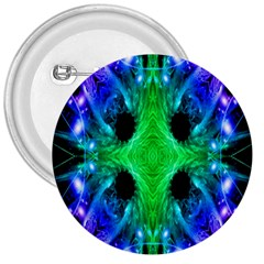 Alien Snowflake 3  Button by icarusismartdesigns