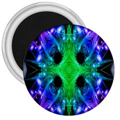 Alien Snowflake 3  Button Magnet by icarusismartdesigns