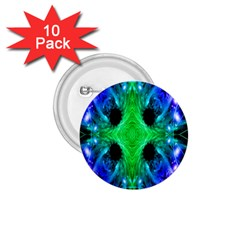 Alien Snowflake 1 75  Button (10 Pack) by icarusismartdesigns
