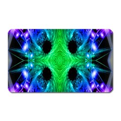 Alien Snowflake Magnet (rectangular) by icarusismartdesigns