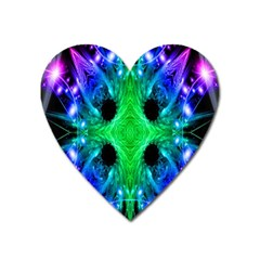 Alien Snowflake Magnet (heart) by icarusismartdesigns
