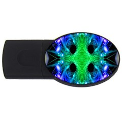 Alien Snowflake 2gb Usb Flash Drive (oval) by icarusismartdesigns