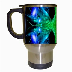 Alien Snowflake Travel Mug (white) by icarusismartdesigns