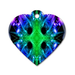 Alien Snowflake Dog Tag Heart (one Sided)  by icarusismartdesigns