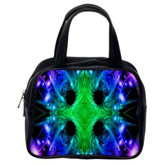 Alien Snowflake Classic Handbag (one Side) by icarusismartdesigns