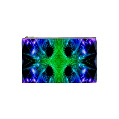 Alien Snowflake Cosmetic Bag (small) by icarusismartdesigns