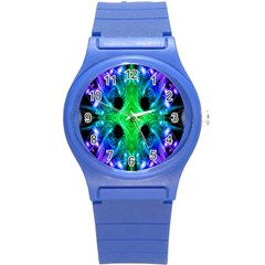 Alien Snowflake Plastic Sport Watch (small) by icarusismartdesigns