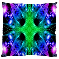 Alien Snowflake Large Cushion Case (single Sided)  by icarusismartdesigns