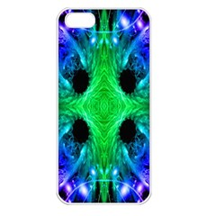Alien Snowflake Apple Iphone 5 Seamless Case (white) by icarusismartdesigns