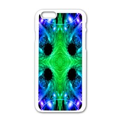 Alien Snowflake Apple Iphone 6 White Enamel Case by icarusismartdesigns