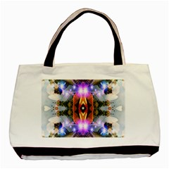 Connection Twin Sided Black Tote Bag by icarusismartdesigns
