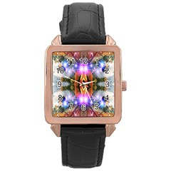 Connection Rose Gold Leather Watch  by icarusismartdesigns