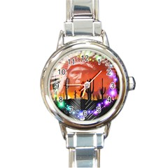 Ghost Dance Round Italian Charm Watch by icarusismartdesigns
