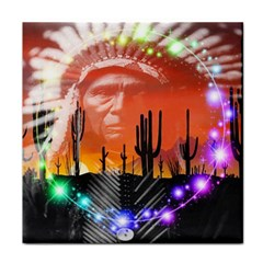 Ghost Dance Ceramic Tile by icarusismartdesigns
