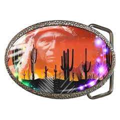 Ghost Dance Belt Buckle (oval) by icarusismartdesigns