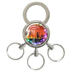 Ghost Dance 3 Ring Key Chain by icarusismartdesigns