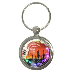 Ghost Dance Key Chain (round) by icarusismartdesigns