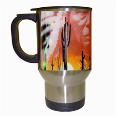 Ghost Dance Travel Mug (white) by icarusismartdesigns