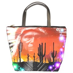 Ghost Dance Bucket Handbag by icarusismartdesigns