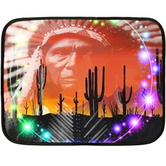 Ghost Dance Mini Fleece Blanket (two Sided) by icarusismartdesigns