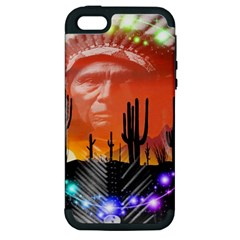 Ghost Dance Apple Iphone 5 Hardshell Case (pc+silicone) by icarusismartdesigns