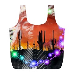 Ghost Dance Reusable Bag (l) by icarusismartdesigns