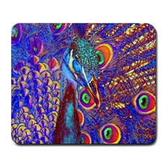 Peacock Large Mouse Pad (rectangle)