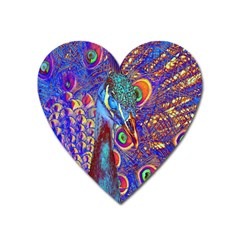 Peacock Magnet (heart) by icarusismartdesigns