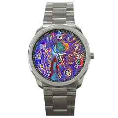 Peacock Sport Metal Watch by icarusismartdesigns