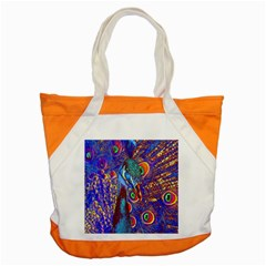 Peacock Accent Tote Bag by icarusismartdesigns