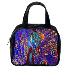 Peacock Classic Handbag (one Side) by icarusismartdesigns