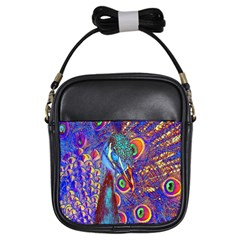 Peacock Girl s Sling Bag by icarusismartdesigns