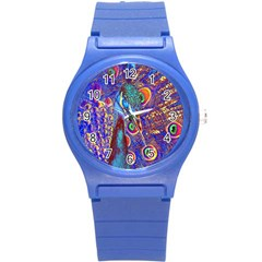 Peacock Plastic Sport Watch (small) by icarusismartdesigns