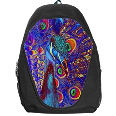 Peacock Backpack Bag by icarusismartdesigns