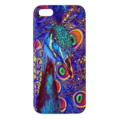 Peacock Iphone 5s Premium Hardshell Case by icarusismartdesigns