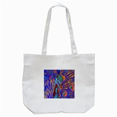 Peacock Tote Bag (white) by icarusismartdesigns