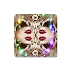 Magic Spell Magnet (square) by icarusismartdesigns