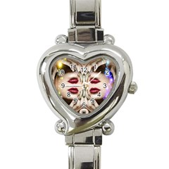 Magic Spell Heart Italian Charm Watch  by icarusismartdesigns