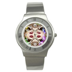 Magic Spell Stainless Steel Watch (slim) by icarusismartdesigns