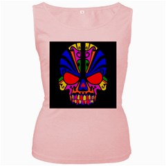 Skull In Colour Women s Tank Top (pink) by icarusismartdesigns