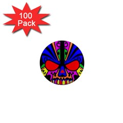 Skull In Colour 1  Mini Button Magnet (100 Pack) by icarusismartdesigns
