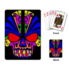 Skull In Colour Playing Cards Single Design