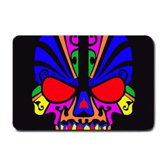 Skull In Colour Small Door Mat by icarusismartdesigns