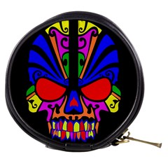 Skull In Colour Mini Makeup Case by icarusismartdesigns
