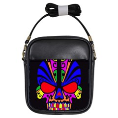 Skull In Colour Girl s Sling Bag by icarusismartdesigns