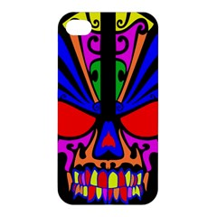 Skull In Colour Apple Iphone 4/4s Hardshell Case by icarusismartdesigns