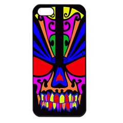 Skull In Colour Apple Iphone 5 Seamless Case (black) by icarusismartdesigns