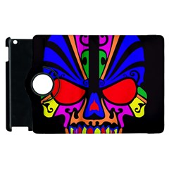 Skull In Colour Apple Ipad 2 Flip 360 Case by icarusismartdesigns