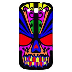 Skull In Colour Samsung Galaxy S3 S Iii Classic Hardshell Back Case by icarusismartdesigns