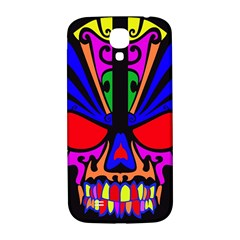 Skull In Colour Samsung Galaxy S4 I9500/i9505  Hardshell Back Case by icarusismartdesigns